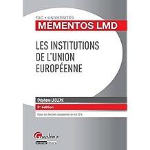 Les Institutions de l'Union européenne, 5ème Ed