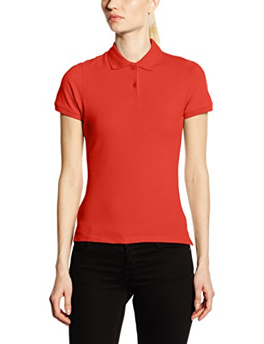 Fruit of the Loom Ss088m, Polo Femme Rouge - Rouge