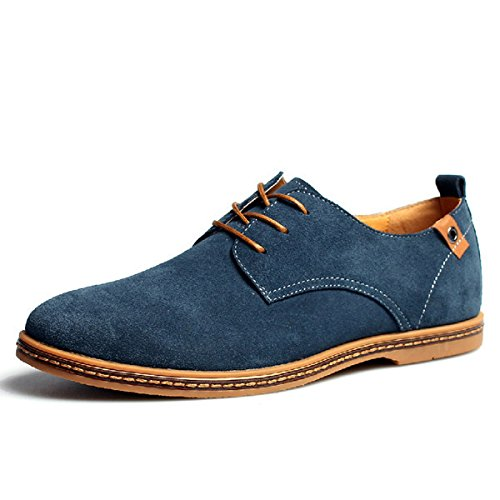 Men's Solid Lace Up Comfortable Oxford Shoes 3