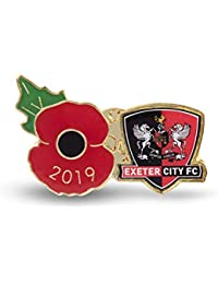 The Royal British Legion Exeter Poppy Football Pin 2019