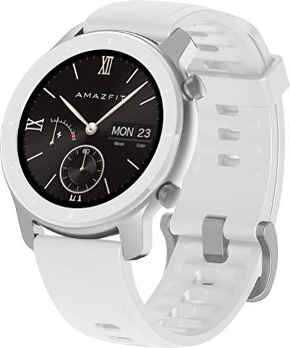 Oferta de Amazfit GTR 42mm - Smartwatch (con medición óptica de la frecuencia cardíaca, Pantalla AMOLED, 5 ATM, Resistente al Agua y Correa de Silicona) Blanco
