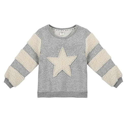 EFINNY Kids Mädchen Langarm Fleece Thick Hoodies Crewneck Pullover Sweater T Shirt (7-fleece-crewneck Top)