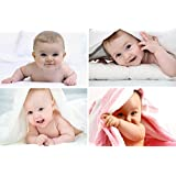 GiftShala Cute Baby Combo Poster Set of 4 Poster | Baby Poster | Beautiful Baby Poster | New Born Baby Poster | Poster for Pregnant Women