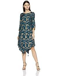 global desi Women's Floral Regular Fit Shirt (EC18G164TUSTN_Teal_XS)