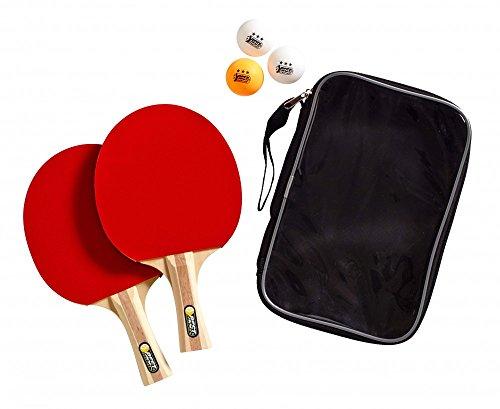 Farbig Ping-pong-bälle (Best Sporting Tischtennisset 2 Tischtennisschläger 3 Bälle und Tasche)