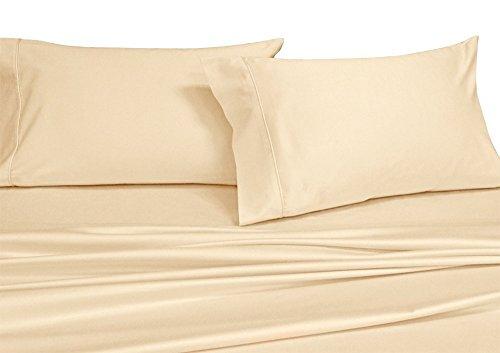 Royal Hotel 250-Thread-Count 4pc Bett-Blatt-Set 100-Prozent Baumwolle, Superior Perkal-Webart, Crispy weiche, Tiefe Tasche, 100% Baumwolle Elfenbein König (König Bettwäsche-sets Elfenbein)