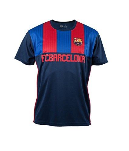 FC Barcelona Stripes Retro Trikot T-Shirt (Blau/rot, S)