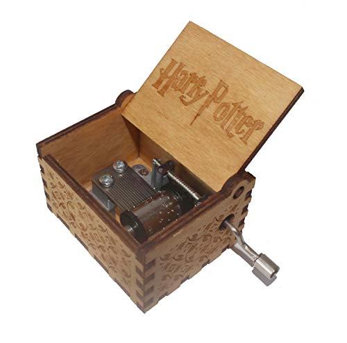 wishing Holz Spieluhr ,Musik Box Hand-hölzerne Spieluhr Kreative Holz Handwerk Holz Dekorative Box Reine Hand-Klassischen (Yellow Harry Potter) 1a Diode