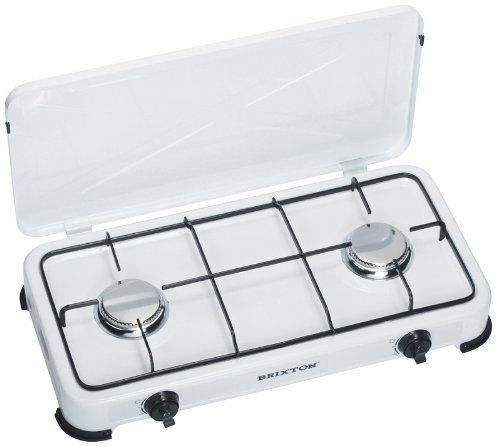 Gaskocher 2-flammig mit Edelsthalbrenner 50 mbar, iIdeal für die Campingküche oder Outdoorküche