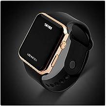Unisex simple Disign LED reloj Digital para los hombres, las mujeres oro rosa