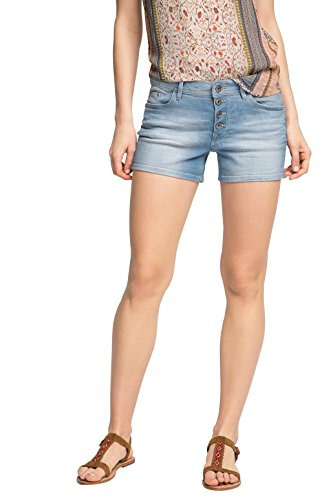 edc by Esprit mit Muster - short Mujer, Azul (BLUE BLEACHED 904), W31