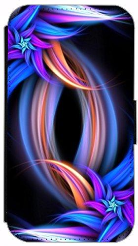 Kuna Flip Cover für Apple iPhone 5 / 5s Design K233 Abstract Bunt Hülle aus Kunst-Leder Handy Tasche Etui mit Kreditkartenfächern Schutzhülle Case Wallet Buchflip Rückseite Schwarz Vorderseite Bedruck K249