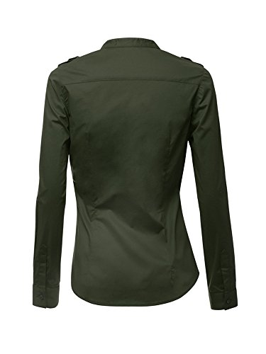 OCHENTA -  Maglia a manica lunga  - Tunica - Basic - Maniche lunghe  - Donna Army Green