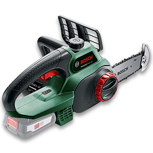Tronçonneuse sans fil Bosch - UniversalChain 18 (Livrée sans batterie ni chargeur, avec huile 80 ml, système 18V, longueur de guide: 20cm)