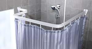 Bendi Track Ensemble rideau de douche et barre de douche