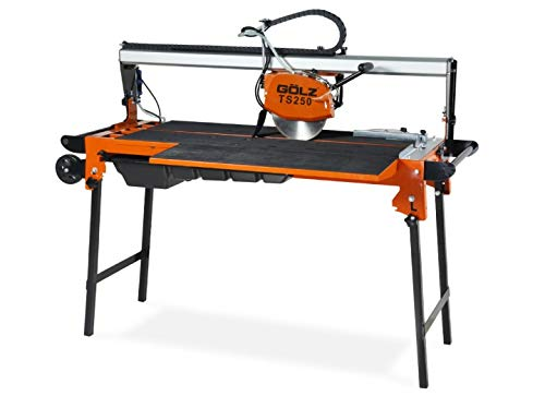 GÖLZ TS250 Fliesentrennmaschine TS 250 - Bridge Head - Tile Cutting Machine for Professional Use. - Made in Germany, Black, Orange