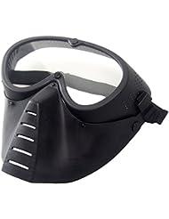 Wwman máscara táctica genérica, protección militar para airsoft o Paintball, máscara negra de cara completa con gafas., BK