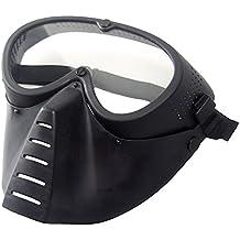 wwman gafas de cara de malla protección militar para airsoft y paintball máscara de cara completa negro máscara Generic táctica de gafas, BK