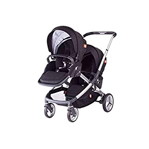 MYRCLMY Baby Strollers Double Pushchair Twins Tandem Pushchair,Lightweight With Convertible Bassinet Stroller Extended Canopy/Large Storage Basket   4