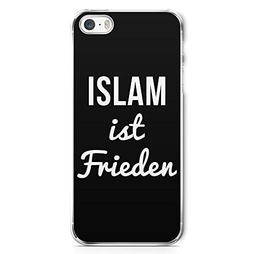 Islam ist Frieden - Handy Hülle für iPhone 5 | 5s | SE - Cover Hard Case Schutz Schale Muslim Spruch Sprüche Frieden