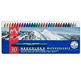 Caran D'ache Neocolor II - Juego de ceras de color (30 unidades, caja metálica)