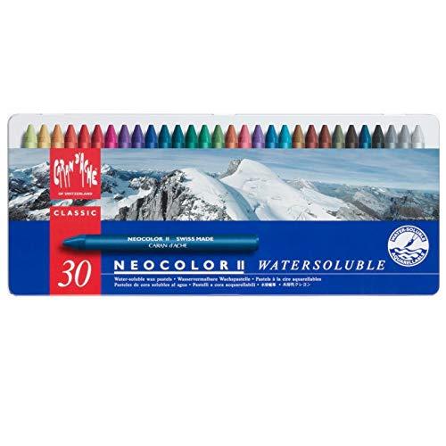 NEOCOLOR II, Metalen doos, 30 kleuren