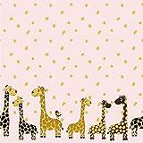 - Stoff - Jersey Bordüre Giraffe rosa - Meterware - 1 m x