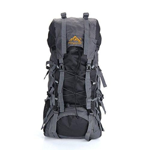 Outdoor Sport Rucksack 55L Bergsteigen Tasche Mit Gürtel Trägt System Black