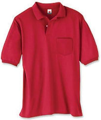 Hanes Hanes Hanes Adult ComfortBlend EcoSmart Jersey Polo with Pocket (Deep rosso) (M) | Prezzo giusto  | Materiali Di Altissima Qualità  e8e60b