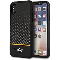Mini Cooper MIRCHCPXOR Real Carbon Fiber Handyhülle für Apple iPhone X Orange