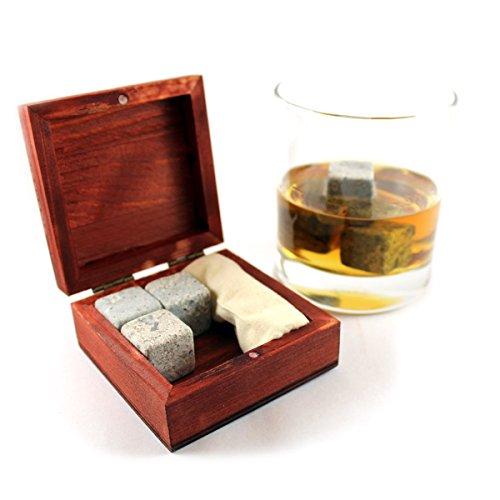 Whisky Steine Set by Fergus McLean - 6 Kühlsteine in eleganter Holzbox