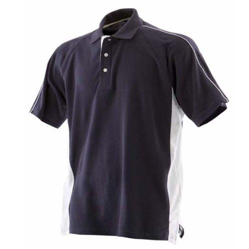 Finden & HalesHerren Poloshirt Marineblau/Weiß