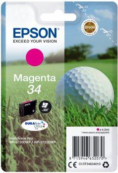 Preisvergleich Produktbild Epson c13t346340204.2ml magenta Tintenpatrone–Tintenpatrone für Drucker (Epson, Magenta, WorkForce Pro wf-3725dwf, WorkForce Pro wf-3720dwf, hoch, 4,2ml