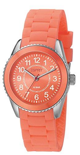 Esprit - ES106424007 - Montre Mixte - Quartz Analogique - Bracelet Résine Orange