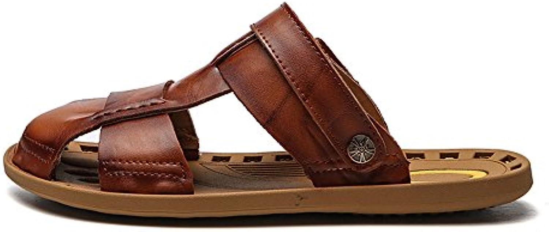 2018 Sommer neue Sandalen Männer Baotou Ledersandalen große Größe weichen Boden Sandalen Großhandel