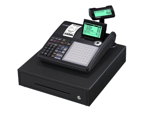 Casio SE-C450MB GDPdU Thermo-Registrierkasse, 10-zeilig, schwarz - Taste Cash Register