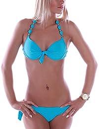 RAE Damen Push up Bikini Set Neckholder Kugeldesign Garda