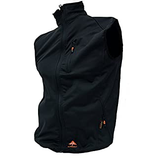 Alpenheat Unisex Heated Softshell Vest Fire-Softshell Vest Heated Softshell Vest, Schwarz, M, AJ9-M