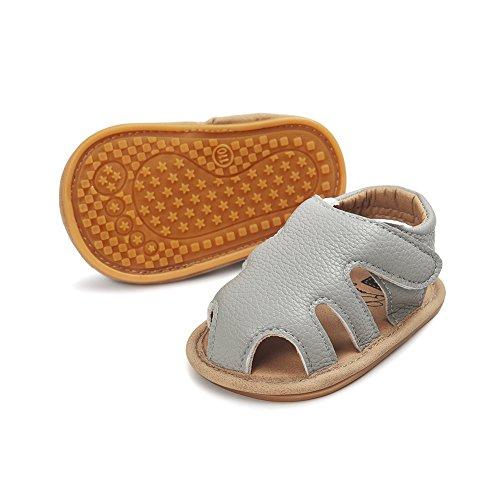 Sandales Bébé ,Chickwin bébé sandales anti-dérapant doux unique Toddler sandales Pour 6-18 mois Bébé (12-18 mois, A) G