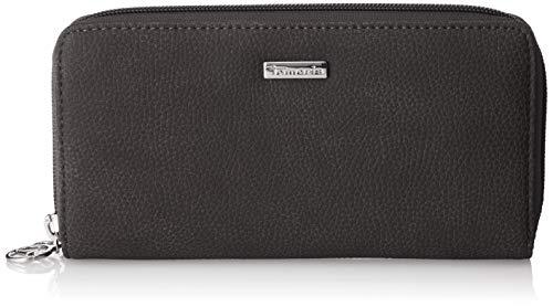 Tamaris Damen Debra Big Zip Around Wallet Geldbörse, Schwarz (Black) 2x10x19.5 cm