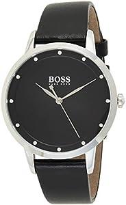 Hugo Boss Womens Quartz Watch, Analog Display And Leather Strap 1502460