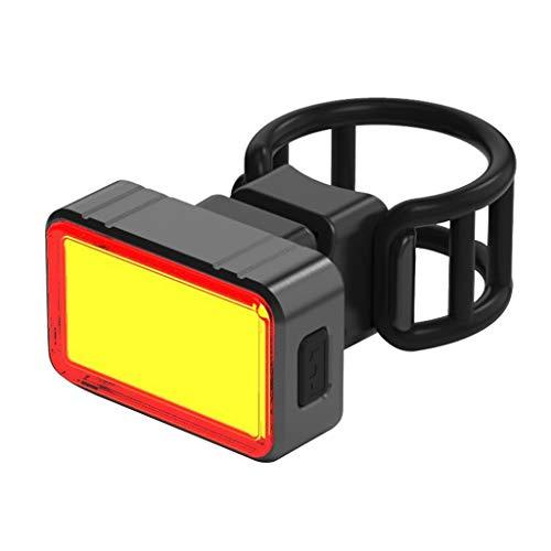 Loxmy Radfahren wiederaufladbare Fahrrad Rücklicht hinten Scheinwerfer im Freienreitens Fahrrad Taschen Lampe Fahrradzubehör (Schwarz)
