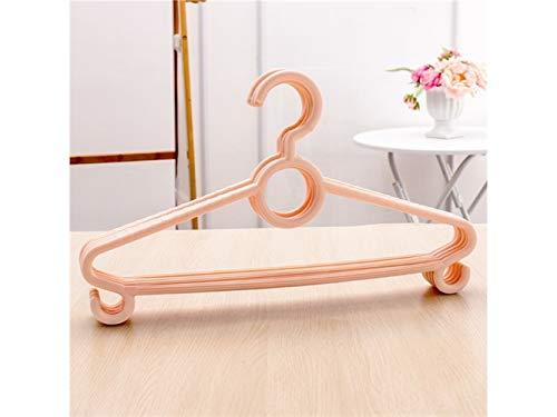 HFjingjing Kleiderhaken Packung mit 5 Kunststoff Rutschfeste Wäscheständer Erwachsene multifunktionale Kleiderbügel (Orange) Platzsparender Aufhänger