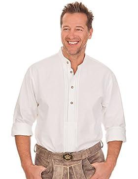 Trachtenhemd mit langem Arm - ARIAN - weiß