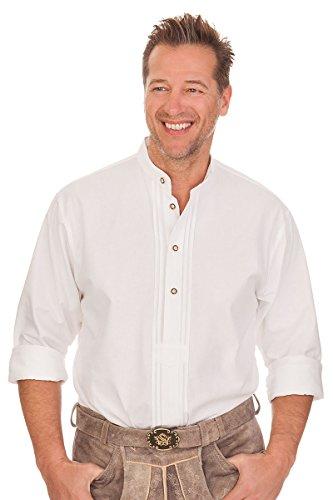 orbis Textil Trachtenhemd mit Langem Arm - Arian - Weiß, Größe 37/38 (S)