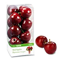 Floracraft Design It Simple Decorative Fruit 15/Pkg-Mini Red Apples, 6.25 x 3.12 x 3