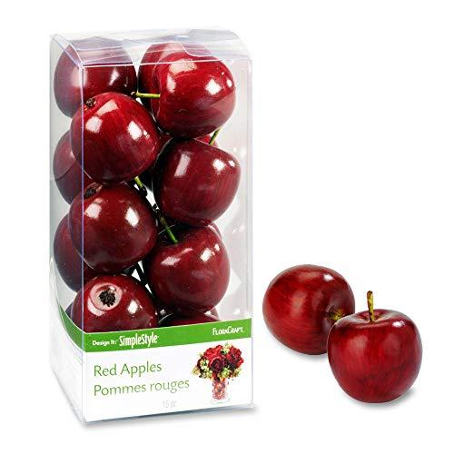 Floracraft Frutta Decorativa 15/Pkg Mini Mela Rossa