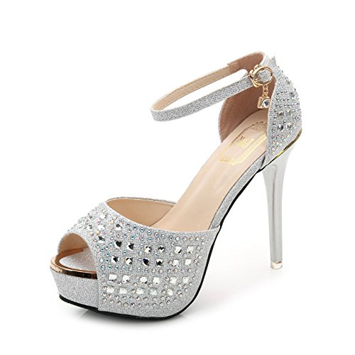 Sandali tacco Belle Tacchi alti Belle Heels Sandali con tacco Club High Heels silvery