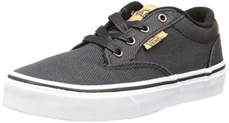 Vans Winston, Boys' Low-Top Sneakers, Black (washed Twill/black/blanket), 2 UK (33 EU)