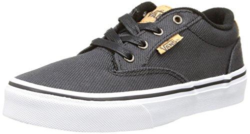 Vans Jungen Winston Sneaker Schwarz (washed Twill/black/blanket)